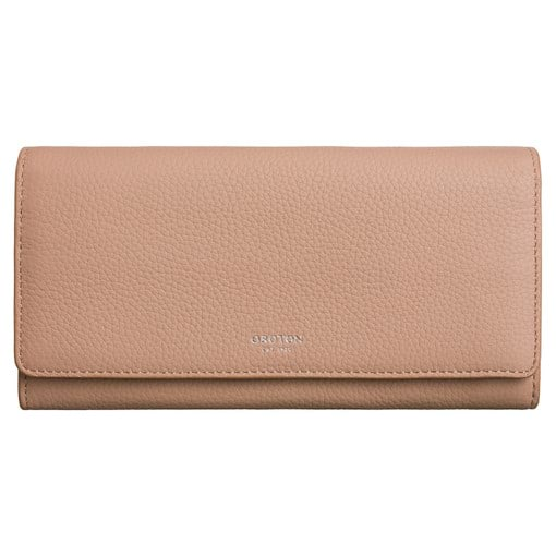 Oroton Duo Wallet And Pouch in Biscuit and Pebble Leather for female